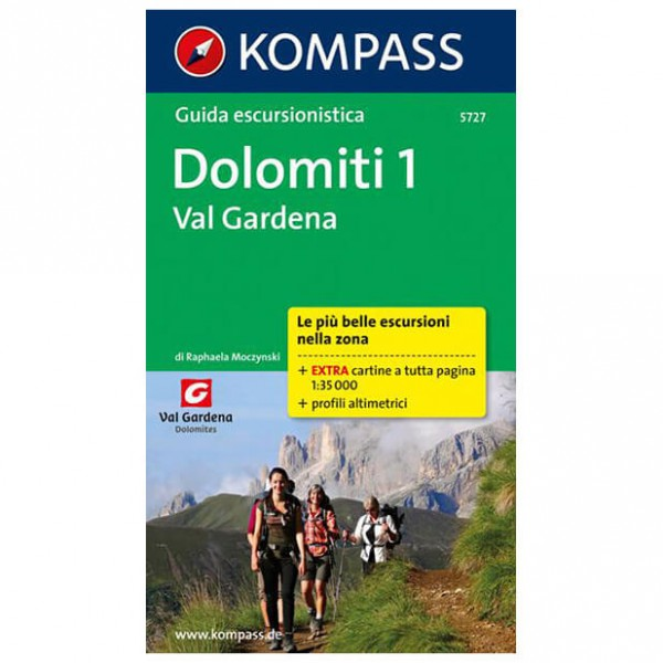 Kompass - Dolomiti 1, Val Gardena, italienische Ausgabe - Guías de senderismo