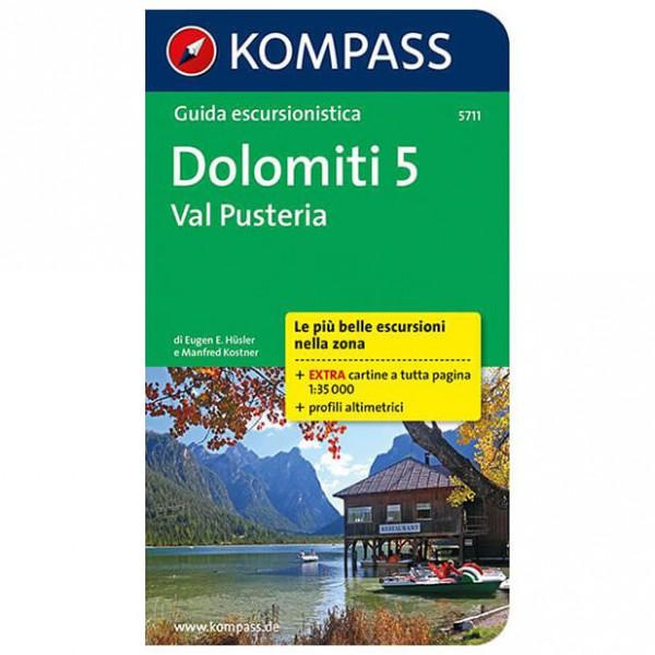 Kompass - Dolomiti 5, Val Pusteria, italienische Ausgabe - Wandelgids