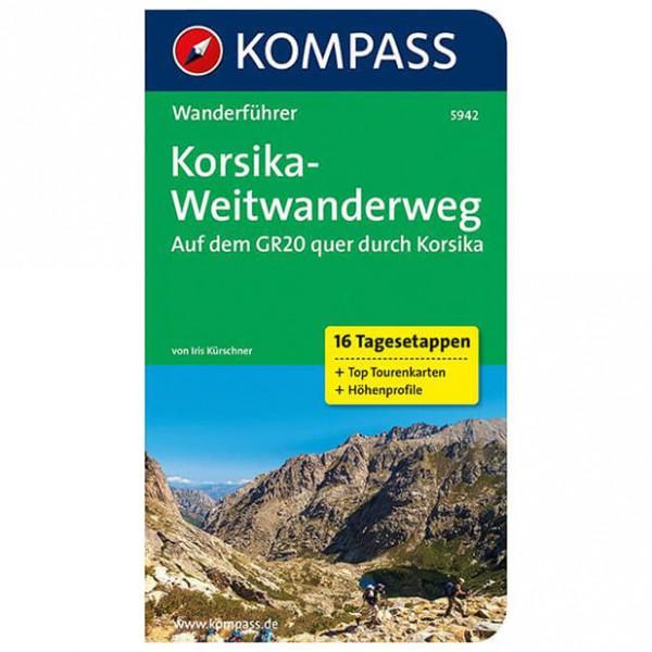 Kompass - Korsika-Weitwanderweg, GR20 quer durch Korsika - Walking guide book