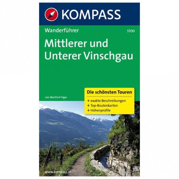 Kompass - Mittlerer und Unterer Vinschgau - Wanderführer