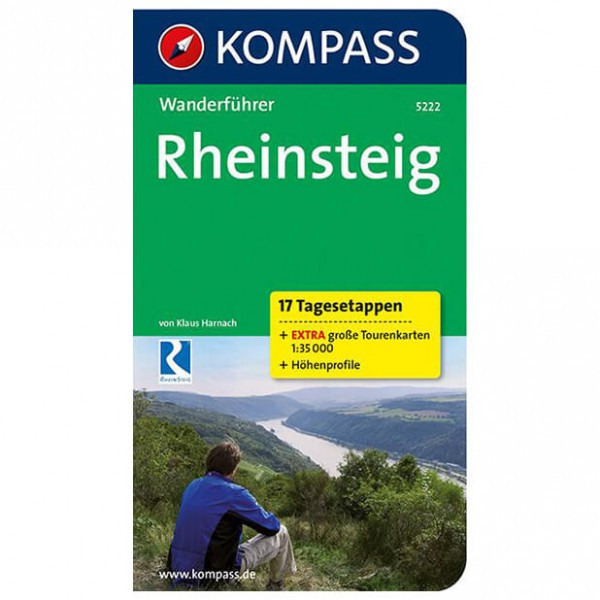 Kompass - Rheinsteig - 17 Tagesetappen - Hiking guides