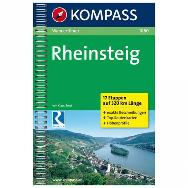 Kompass - Rheinsteig - Wanderführer
