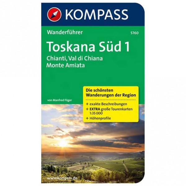 Kompass - Toskana Süd 1, Chianti, Val di Chiana,Monte Amiata - Wanderführer