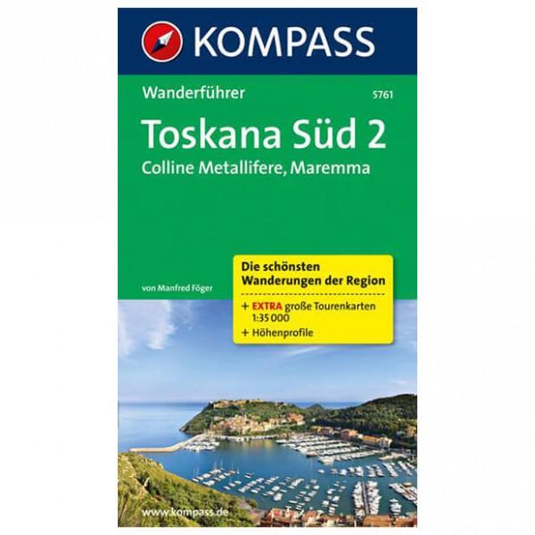 Kompass - Toskana Süd 2, Colline Metallifere, Maremma - Vandringsguider