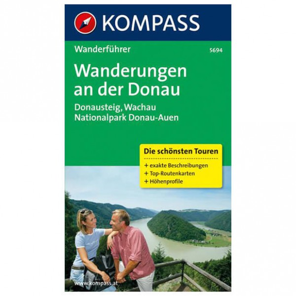 Kompass - Wanderungen an der Donau - Walking guide book