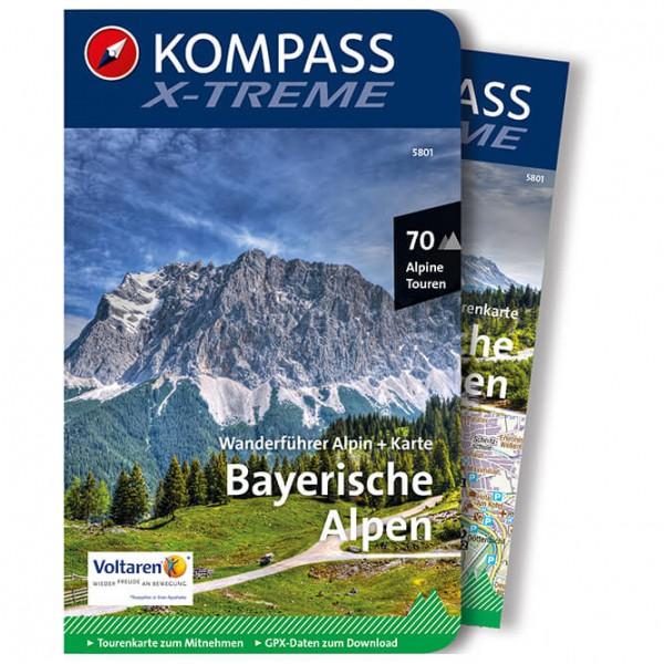 Kompass - X-treme Bayerische Alpen mit Karte - Walking guide book
