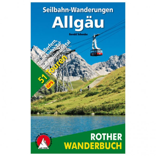 Bergverlag Rother - Wanderbuch Seilbahn-Wanderungen Allgäu - Vandreguides