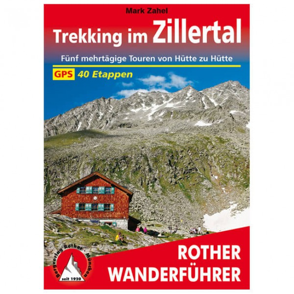 Bergverlag Rother - Trekking im Zillertal - Walking guide book