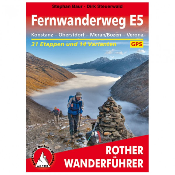 Bergverlag Rother - Fernwanderweg E5 - Walking guide book