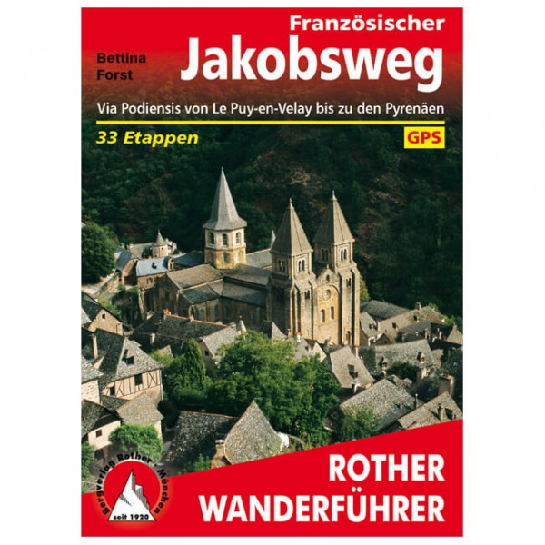 Bergverlag Rother - Französischer Jakobsweg - Walking guide book