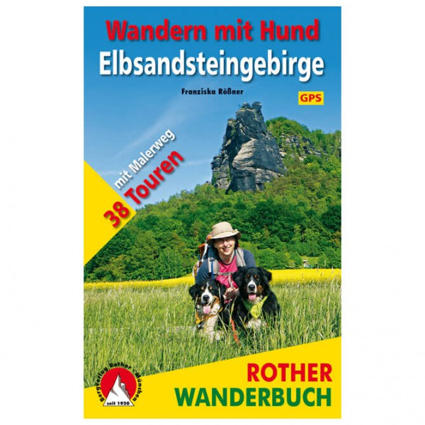 Bergverlag Rother - Wandern mit Hund Elbsandsteingebirge - Walking guide book