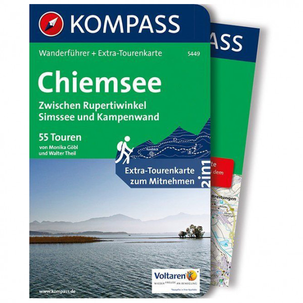 Kompass - Chiemsee, Zwischen Rupertiwinkel - Walking guide book