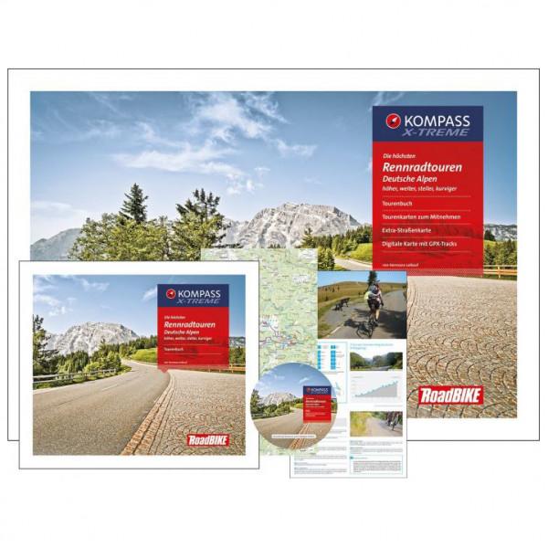 Kompass - Die höchsten Rennradtouren Deutsche Alpen - Vandreguides