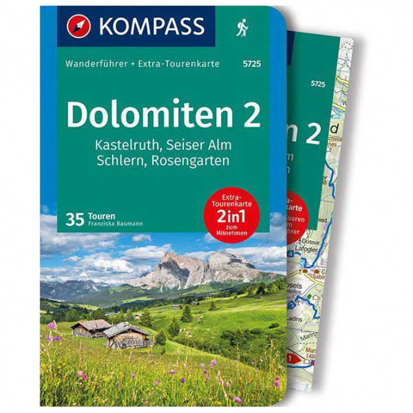 Kompass - Dolomiten 2, Kastelruth - Wandelgidsen