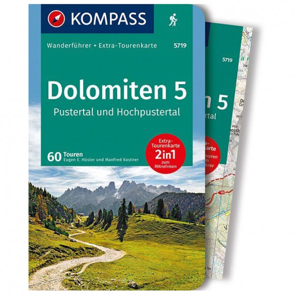 Kompass - Dolomiten 5, Pustertal und Hochpustertal - Wandelgidsen