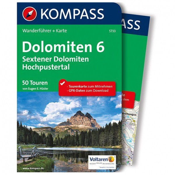 Kompass - Dolomiten 6 - Sextener Dolomiten - Hochpustertal - Wandelgids