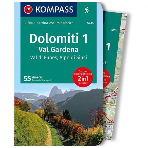 Kompass - Dolomiti 1, Val Gardena - Vandringsguider