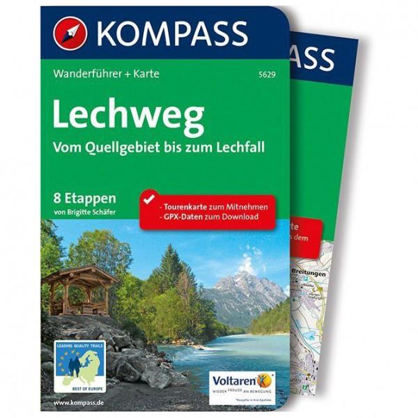 Kompass - Lechweg - Vom Quellgebiet bis zum Lechfall - Guide de randonnée