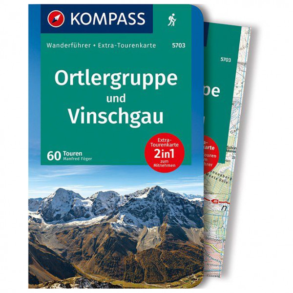 Kompass - Ortlergruppe und Vinschgau - Walking guide book