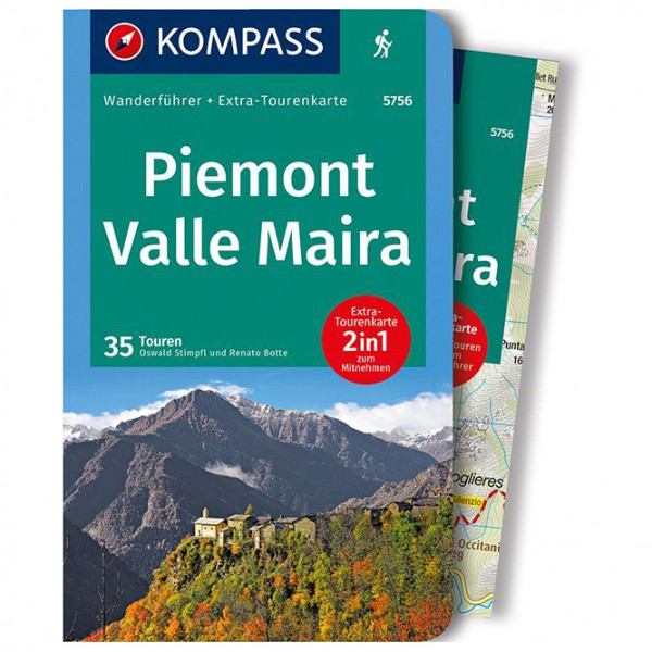 Kompass - Piemont, Valle Maira - Guide de randonnée