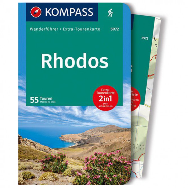 Kompass - Rhodos - Walking guide book