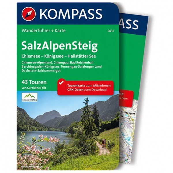 Kompass - SalzAlpenSteig, Chiemsee, Königssee - Walking guide book