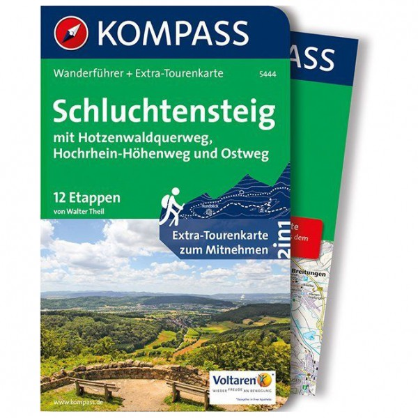 Kompass - Schluchtensteig, mit Hotzenwaldquerweg - Vandreguides