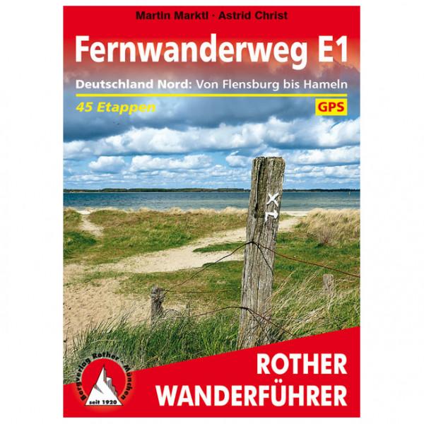 Bergverlag Rother - Fernwanderweg E1 Deutschland Nord - Vandringsguider