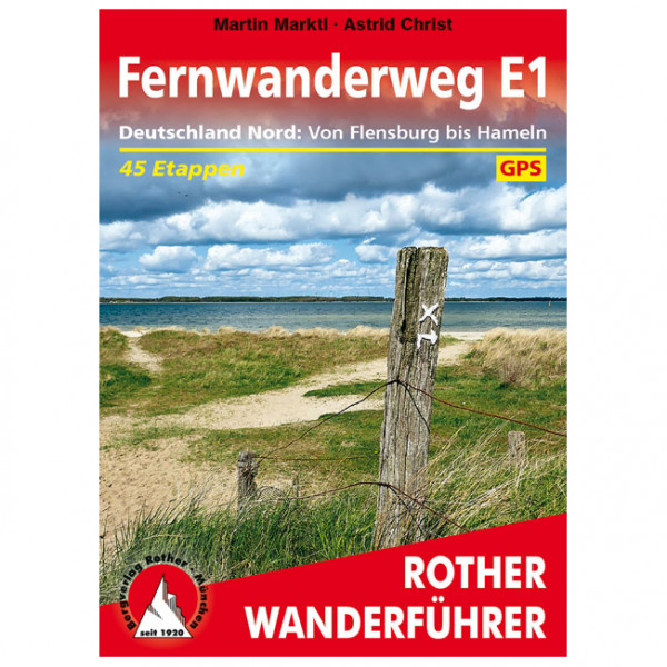 Bergverlag Rother - Fernwanderweg E1 Deutschland Nord - Walking guide book