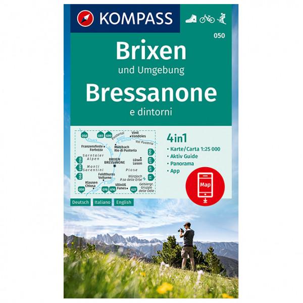 Kompass - Wanderkarte Brixen und Bressanone E Dintorni - Vaellusoppaat
