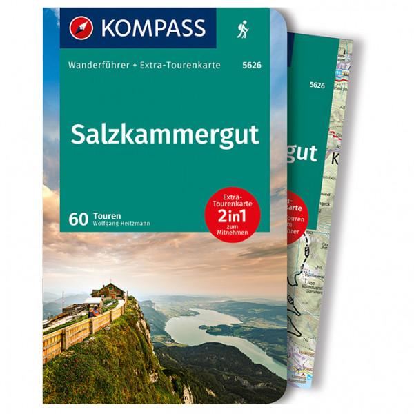 Kompass - Salzkammergut m Karte (+Karte) - Guide de randonnée