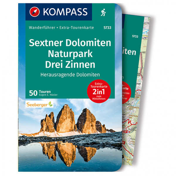 Kompass - Sextner Dolomiten, Naturpark Drei Zinnen - Walking guide book