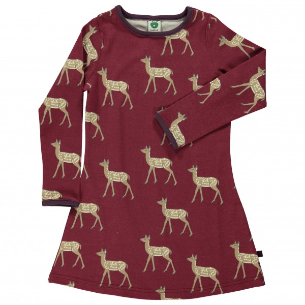 Smafolk - Kid's Dress L/S Deer - Robe