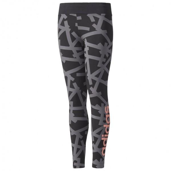 adidas - Girl's Linear Print Tight - Verryttelyhousut