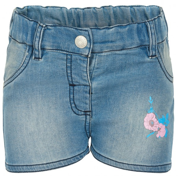 Minymo - Kid's Denim Shorts Flower - Shorts