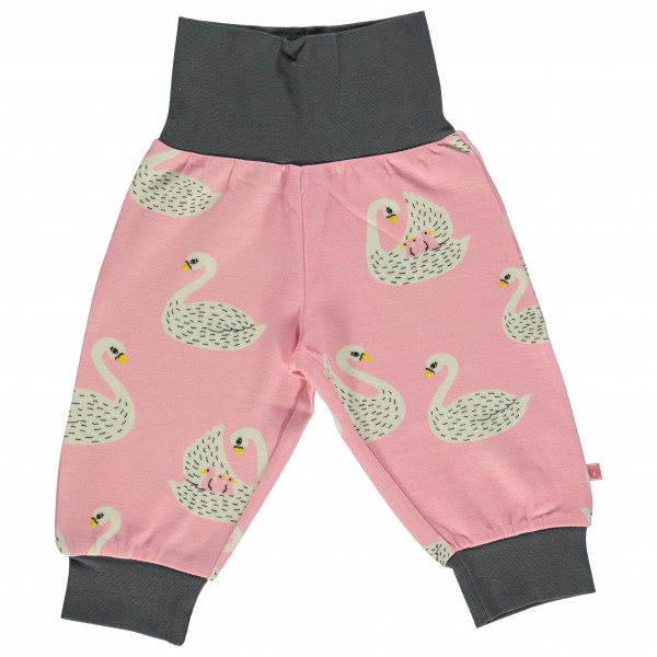 Smafolk - Baby Wool Mix Pants with Swans - Casual trousers
