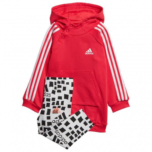 adidas - Kid's I G Hooded 3-Streifen Set - Träningsbyxor