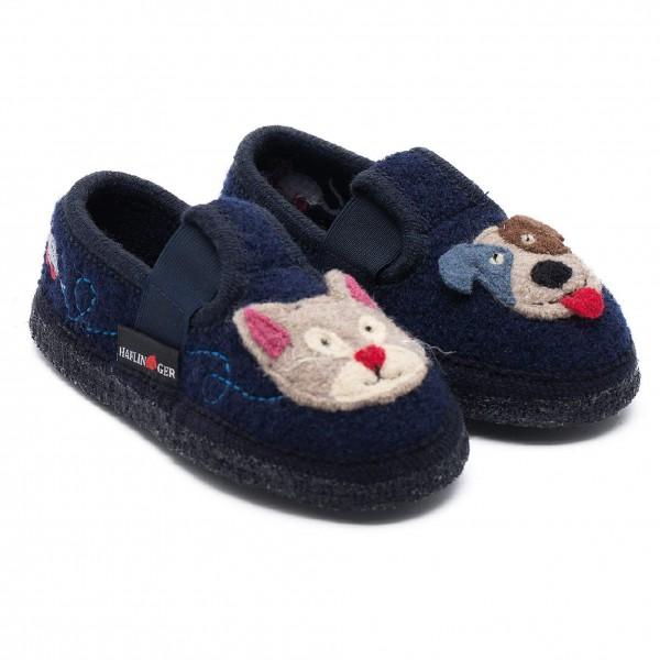Haflinger - Kid's Slipper Hund Und Katze - Sisätaukokengät