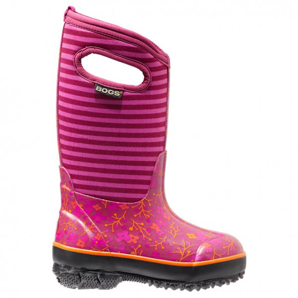 Bogs - Kids Classic Flower Stripe - Rubber boots