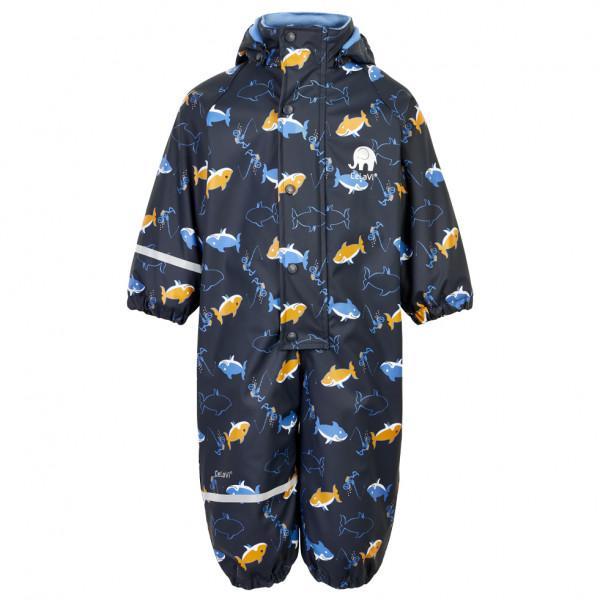 CeLaVi - Boy's Rainwear Suit AOP with Fleece - Kedeldragt