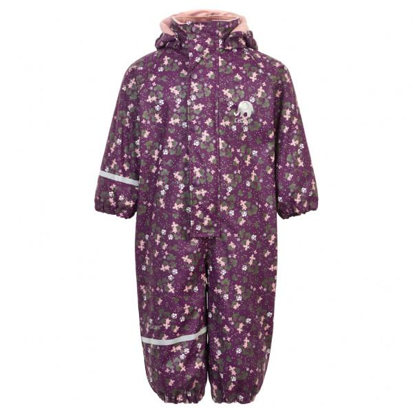CeLaVi - Girl's Rainwear Suit AOP with Fleece - Haalarit