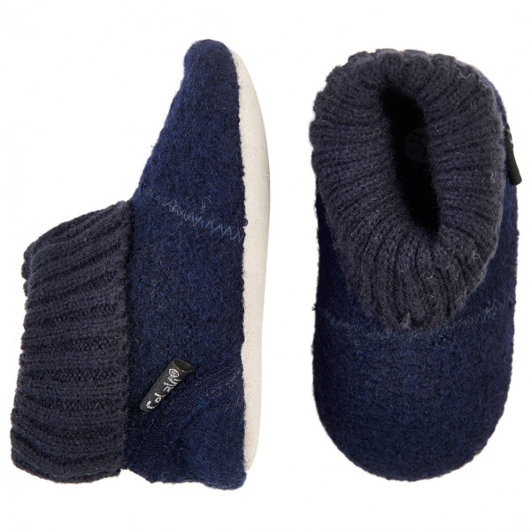CeLaVi - Baby Woolen Slippers With Knit Cuf - Hüttenschuhe