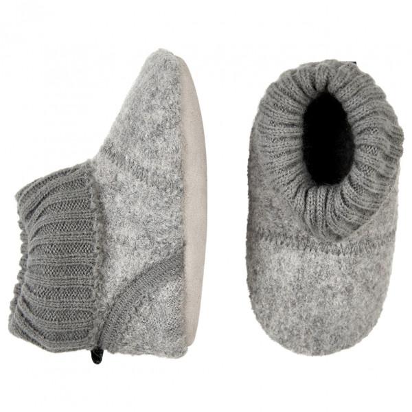CeLaVi - Baby Woolen Slippers With Knit Cuf - Hyttesko