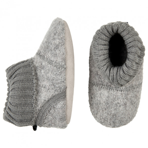 CeLaVi - Baby Woolen Slippers With Knit Cuf - Innetofflor