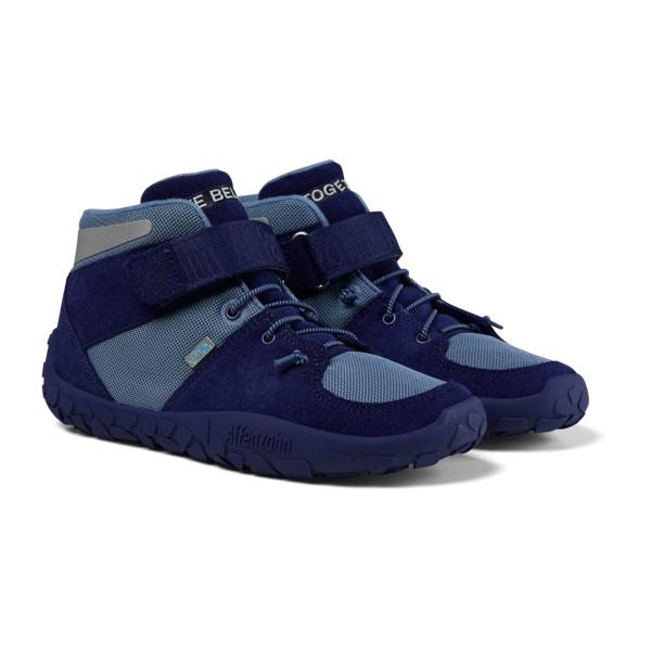 Affenzahn - Kid's Dreamer Hopes Leder Midboot Bluefish - Sneaker