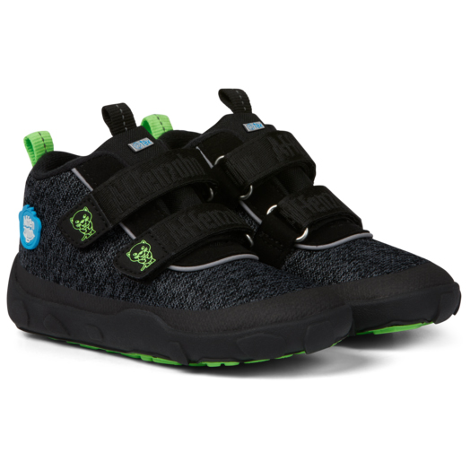 Kid's Happy Smile Knit Lowboot Panther - Sneakers