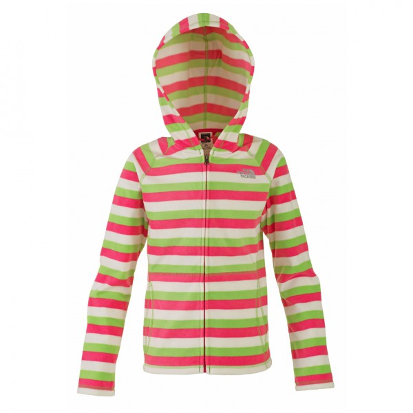 The North Face - Girls Striped Glacier Full Zip Hoodie