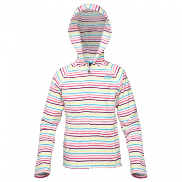 The North Face - Girl's Striped Glacier Full Zip Hoodie