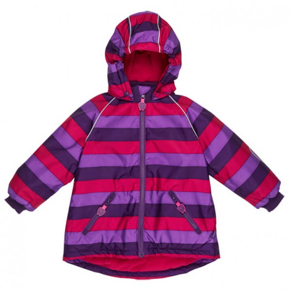 Ej Sikke Lej - Girl's Striped Outerwear Jacket - Talvitakki