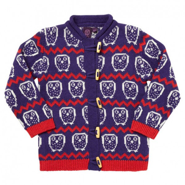 Ej Sikke Lej - Kid's Nordic Knit Cardigan - Wollen jack